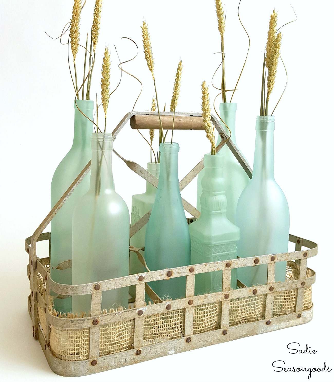 Wine Bottle Crafts – Beach Glass or Sea Glass Bottles for Coastal Decor