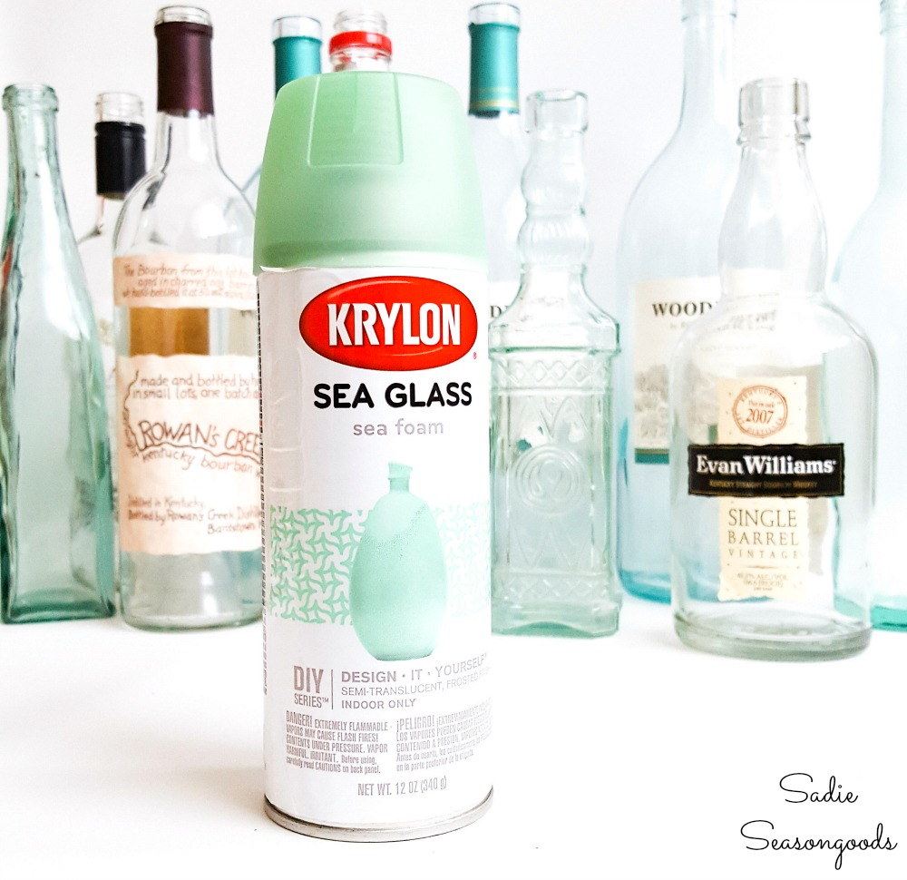 Sea glass paint to use on empty liquor bottles