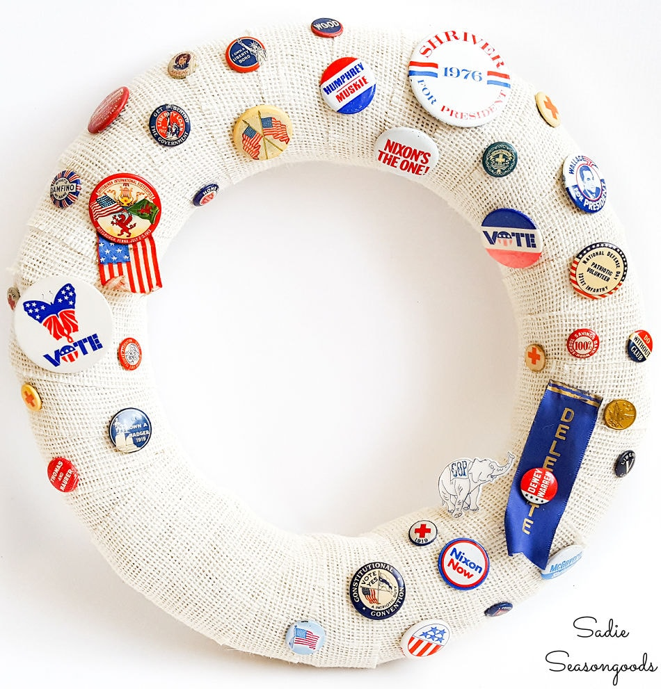 craft idea for vintage campaign buttons