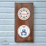 Outdoor Wall Decor for a Tool Shed with Hex Signs