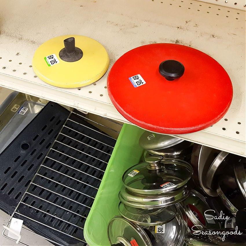 Pot lids at Goodwill