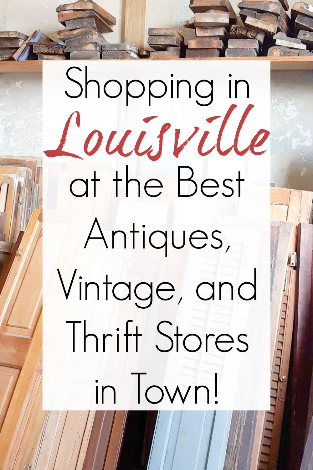 thrifting and antiques in louisville ky