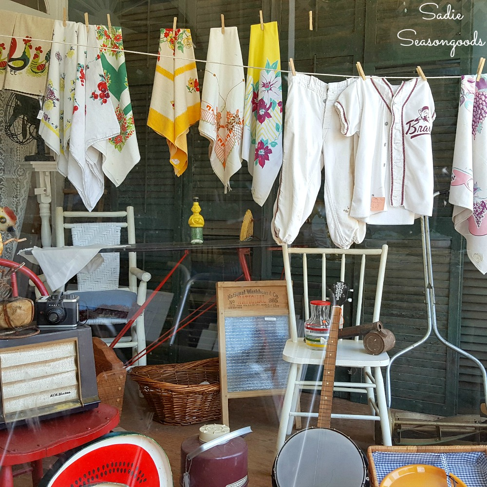 Shopping in Augusta for antique stores and antiques at The Marketplace Antiques with vintage and architectural salvage by Sadie Seasongoods / www.sadieseasongoods.com