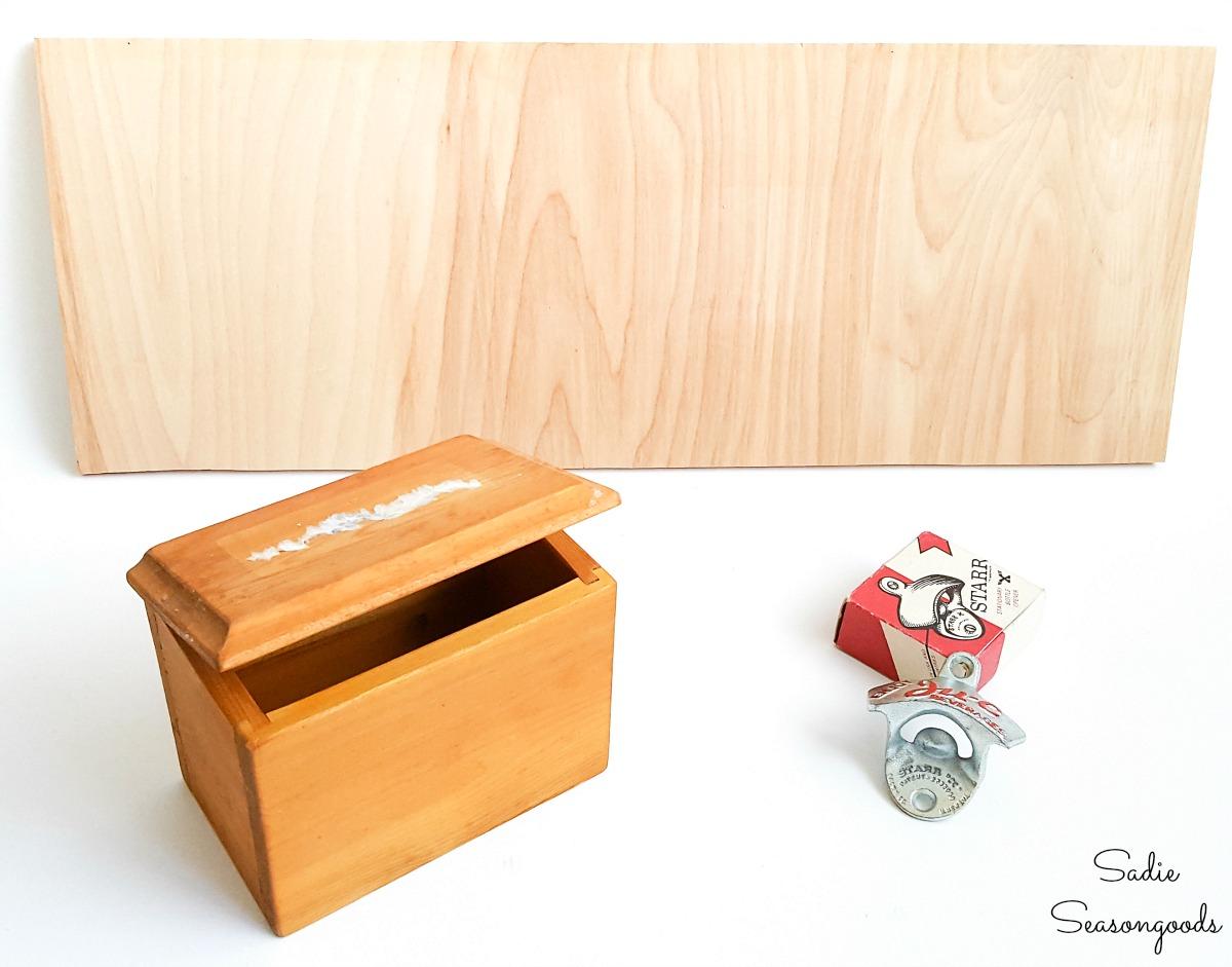 Building a DIY bottle opener with a cap catcher