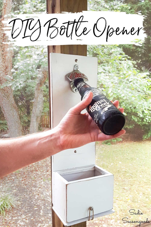 bottle opener with cap catcher