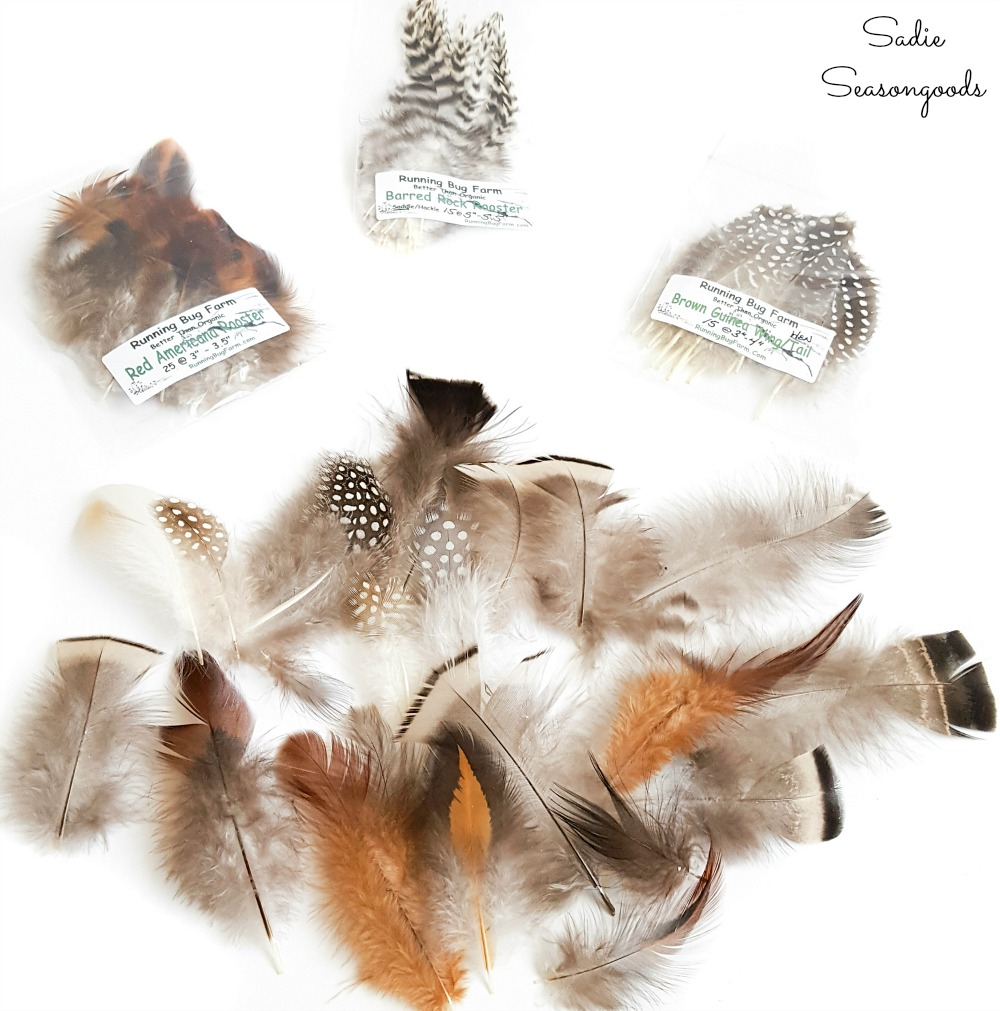 Cruelty free feathers from Running Bug Farm