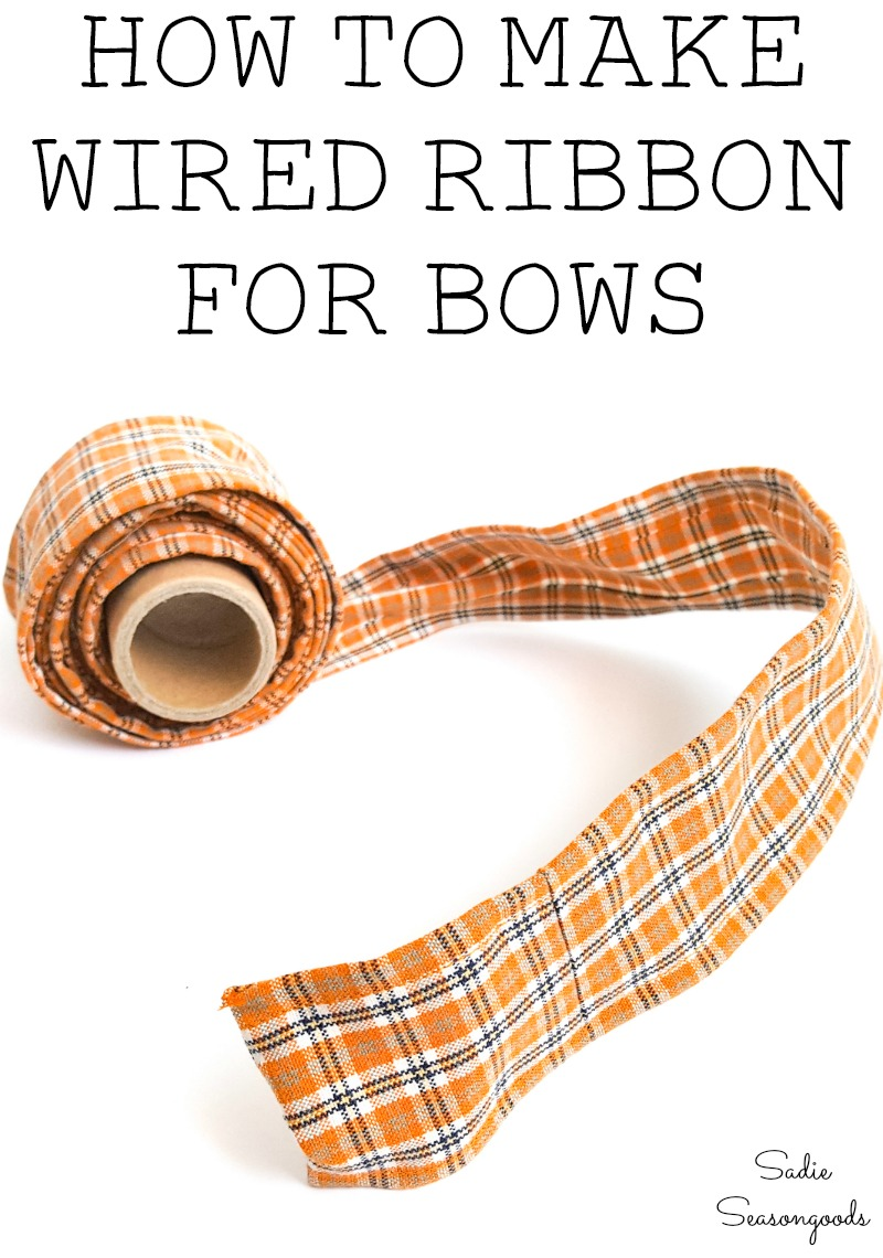 How to make wired ribbon for bows on wreaths