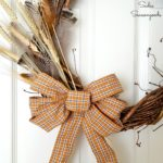 From Thrift Store Clothes to Wired Ribbon for a Harvest Wreath