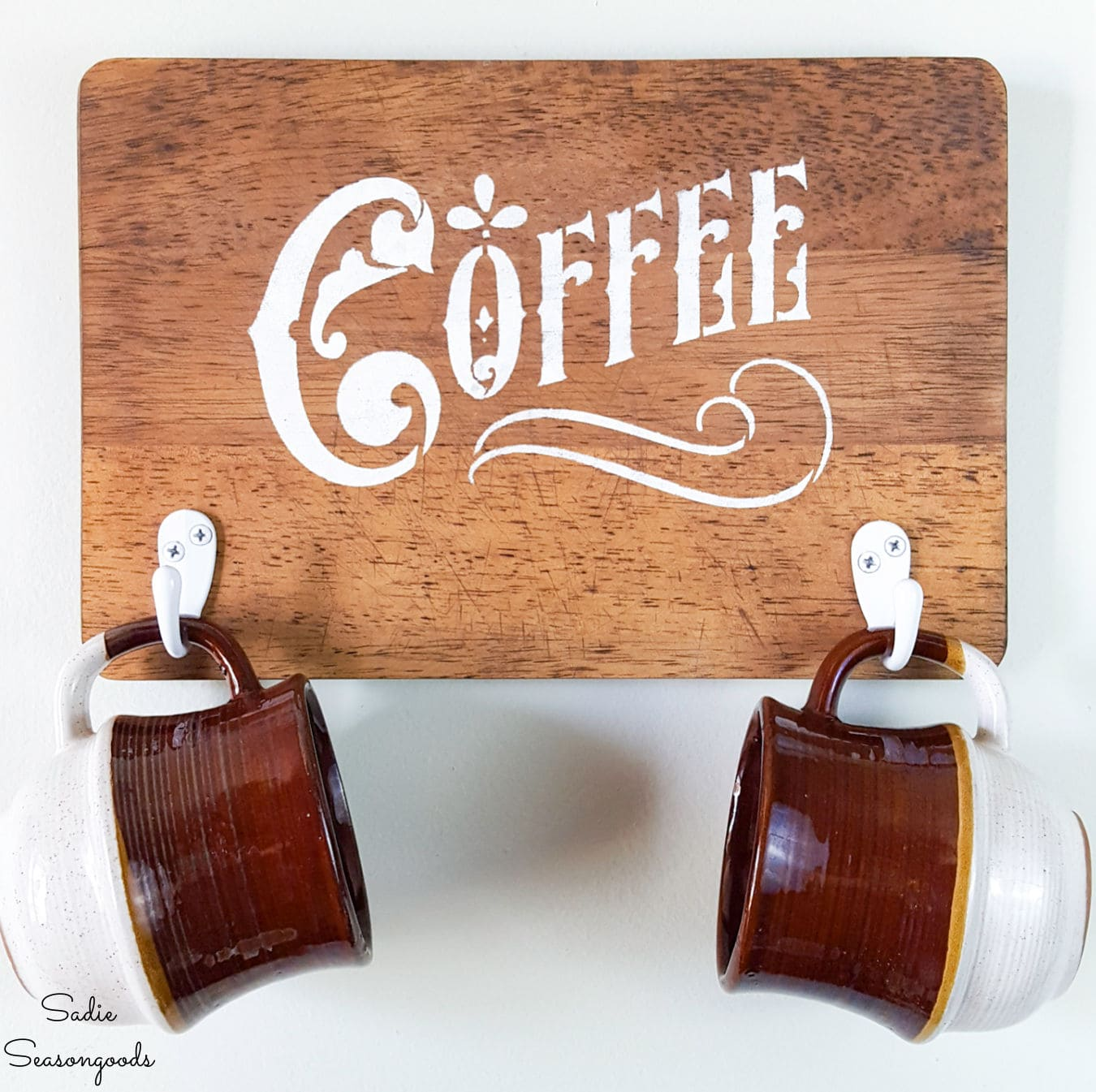 Farmhouse Coffee Sign from a Cutting Board