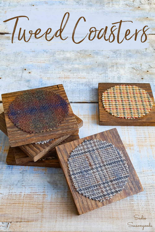 tweed coasters