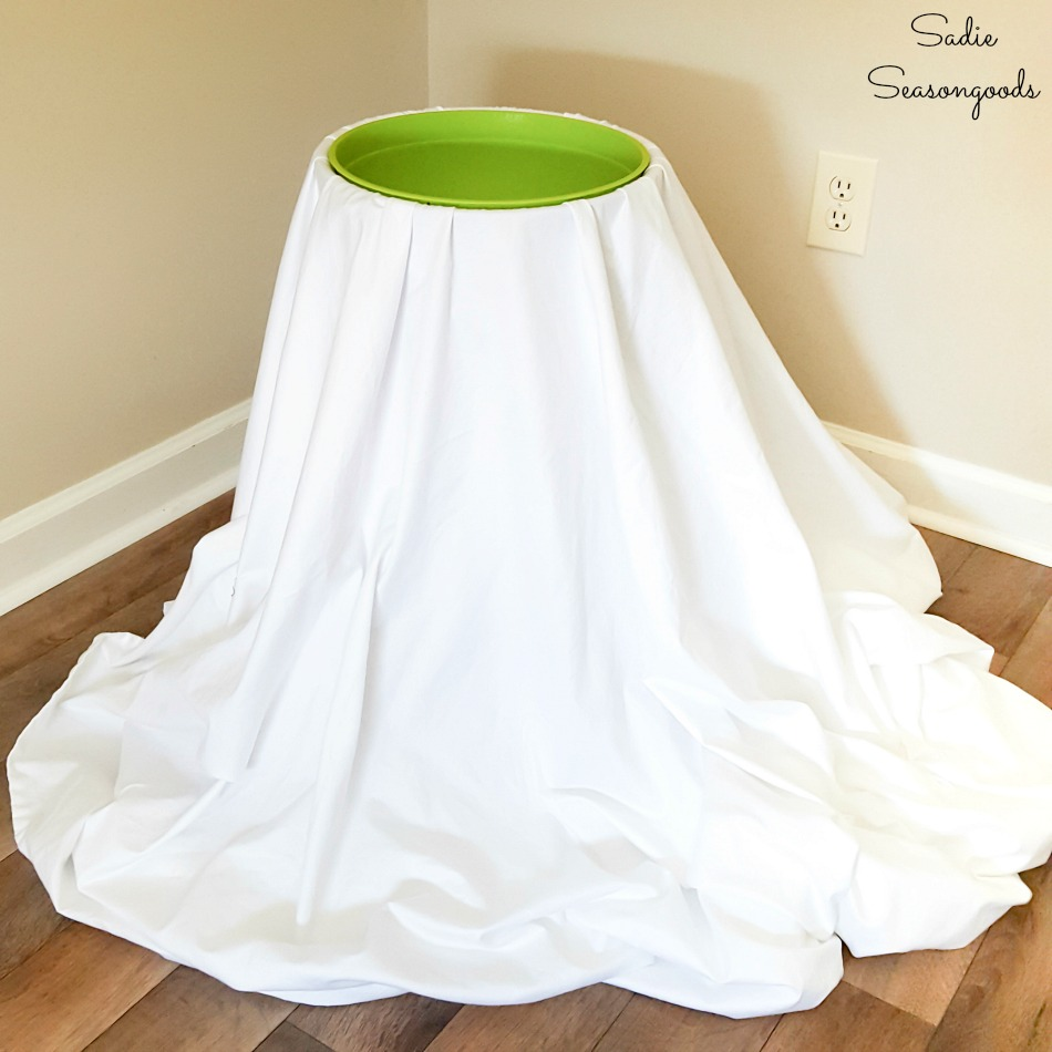 Ghost decoration and Halloween candy bowl stand