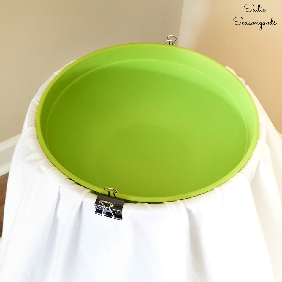 Holding the sheet in place for a Candy bowl holder