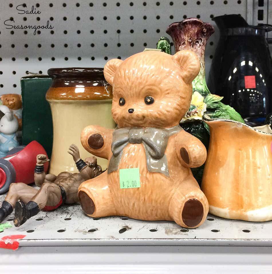 ceramic figurine at a thrift store