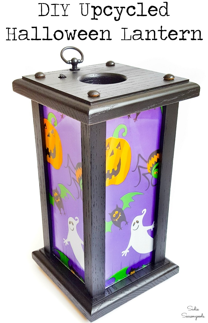 Light up Halloween decor with a lantern