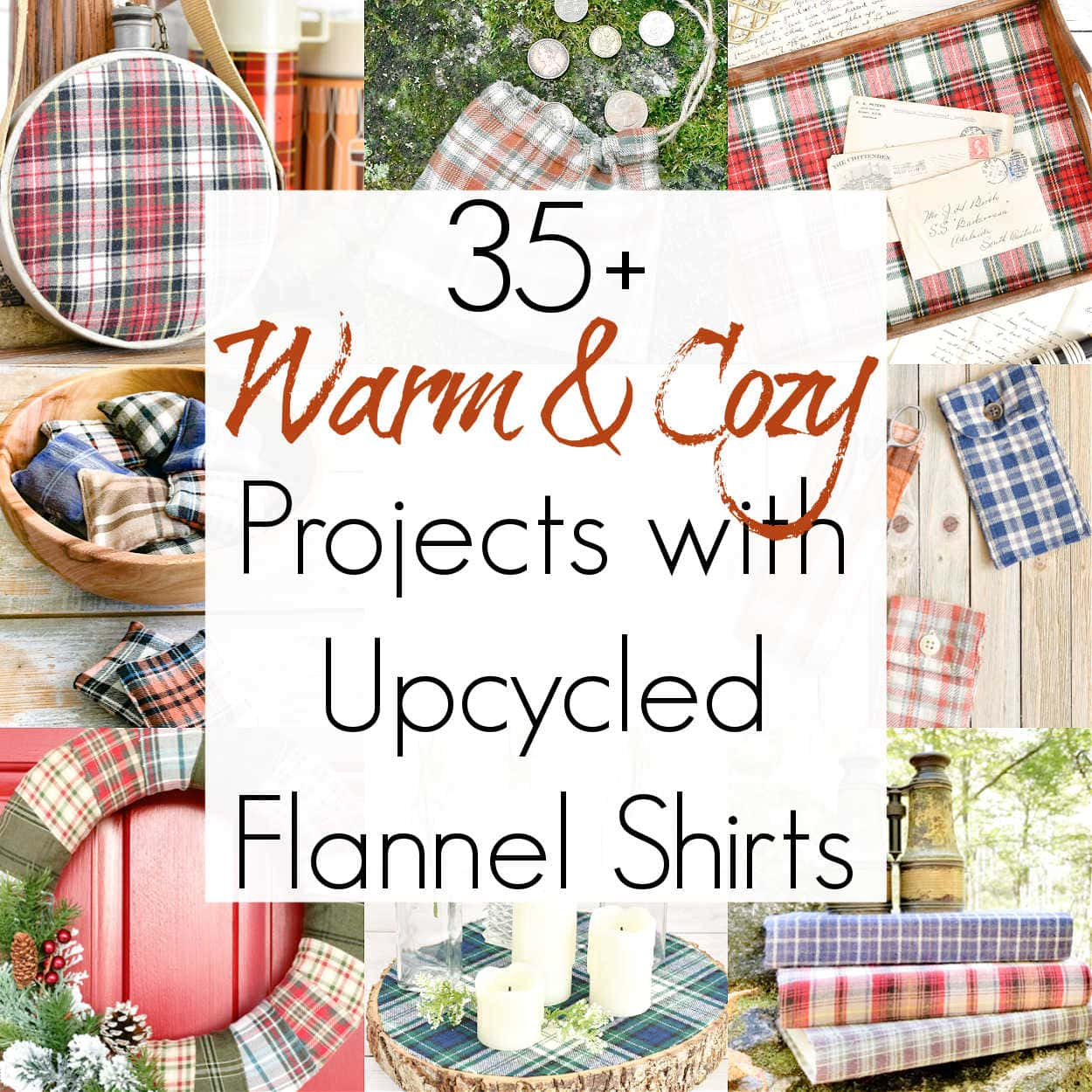 Craft Projects with Upcycled Flannel Shirts