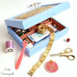 Sewing Box from an Upcycled Mens Valet Box