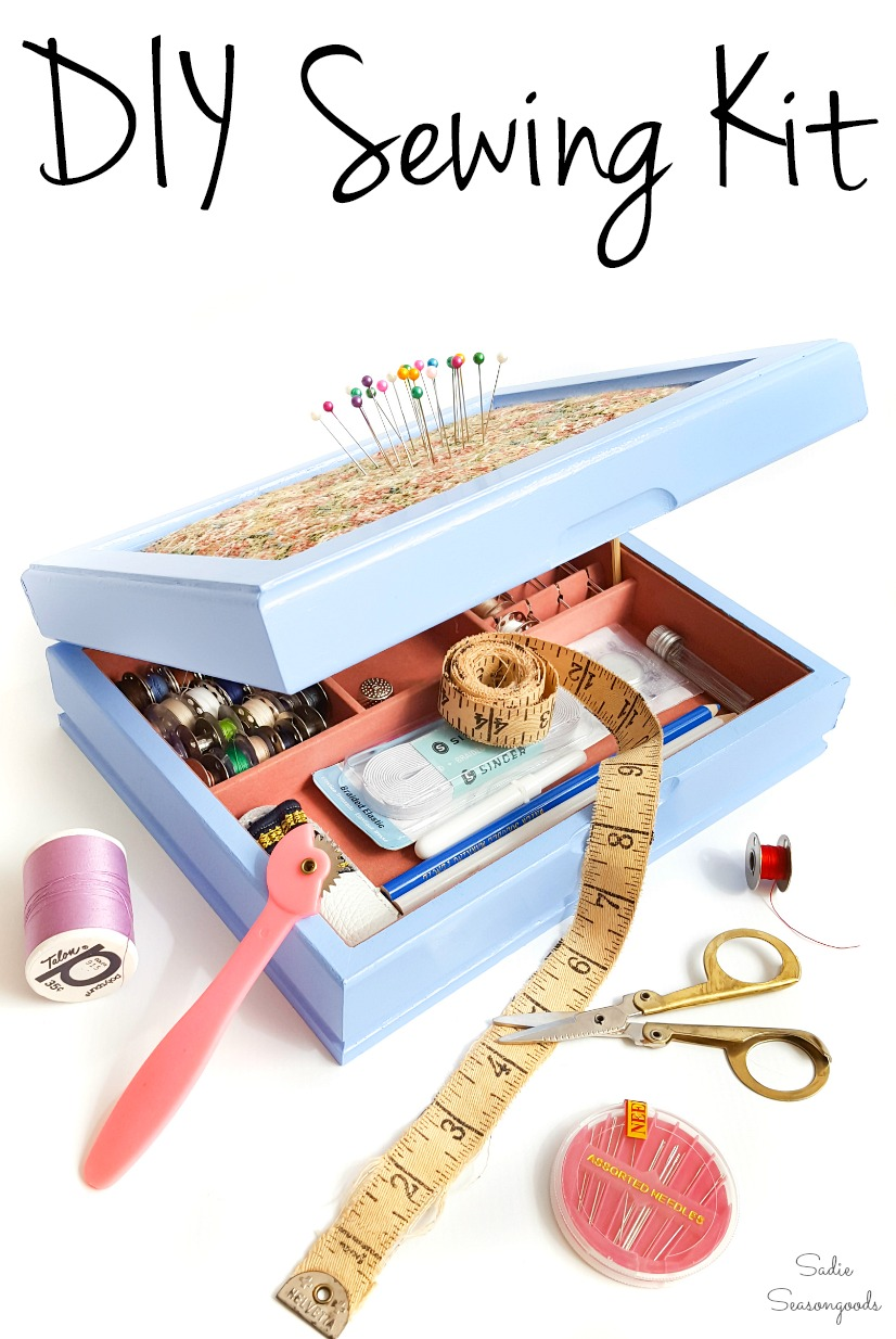 How to make a sewing starter kit with a jewelry box