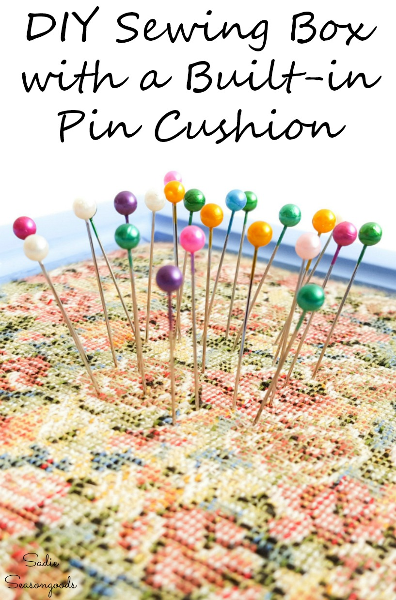 Sewing starter kit with a built-in pin cushion