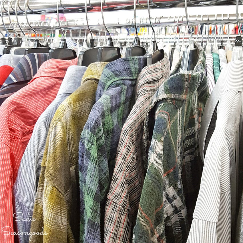 Craft idea for thrift store flannel shirts