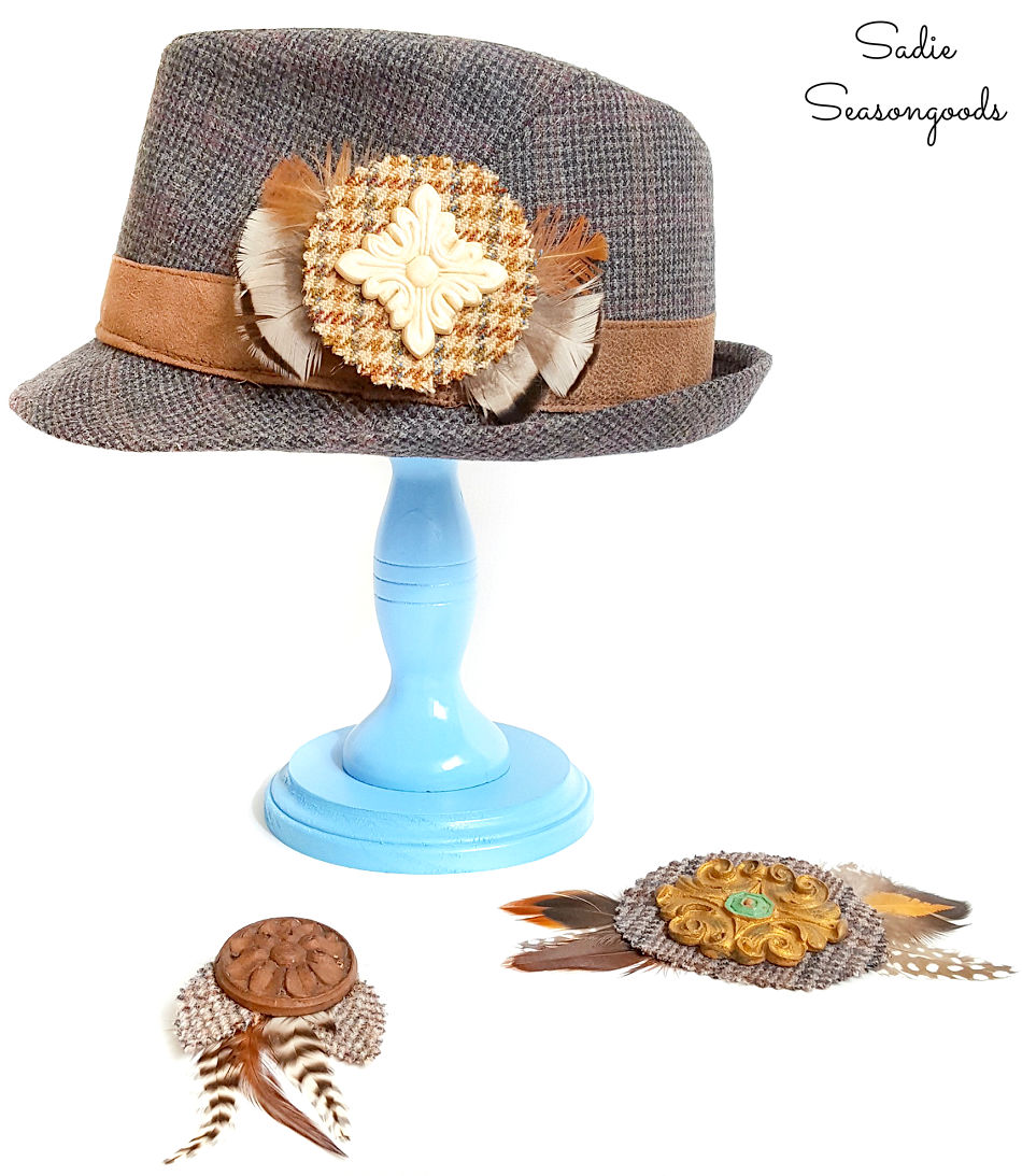 decorating hats with diy jewelry