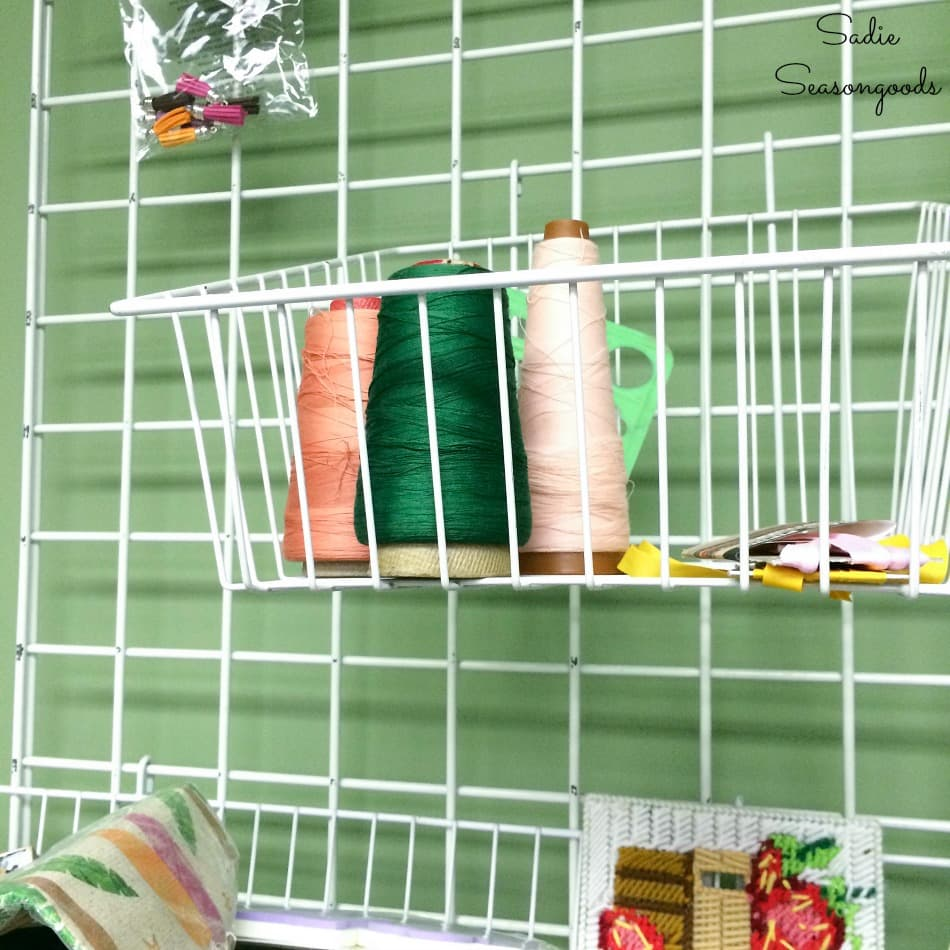 Serger thread cones at the thrift store