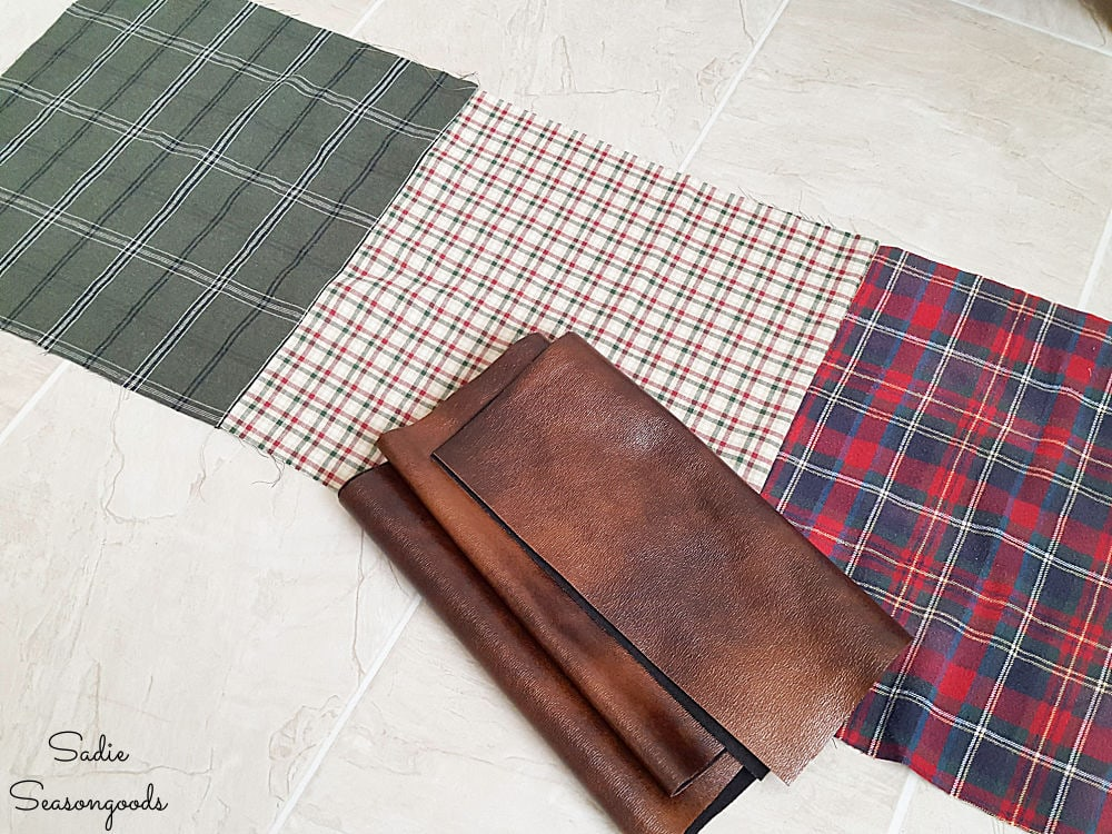 Stitching together panels of flannel fabric