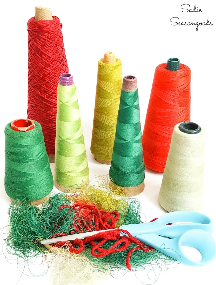 Trimming thread tales on serger thread cones