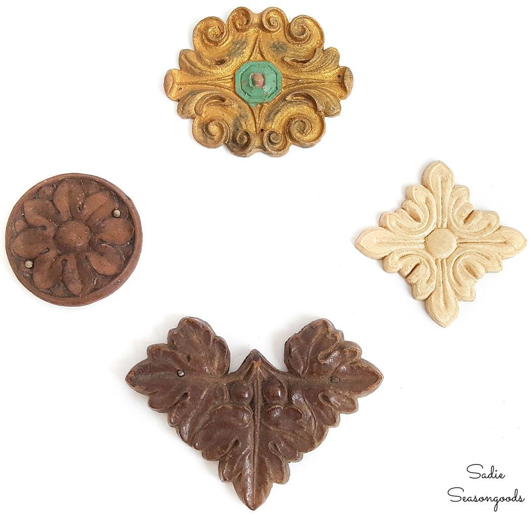 wood medallion appliques