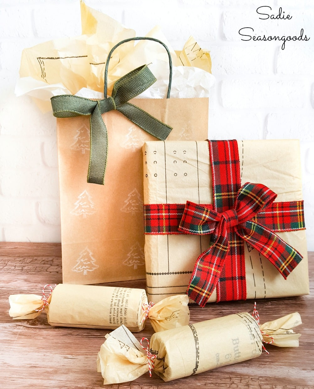Sewing pattern paper as sustainable gift wrapping