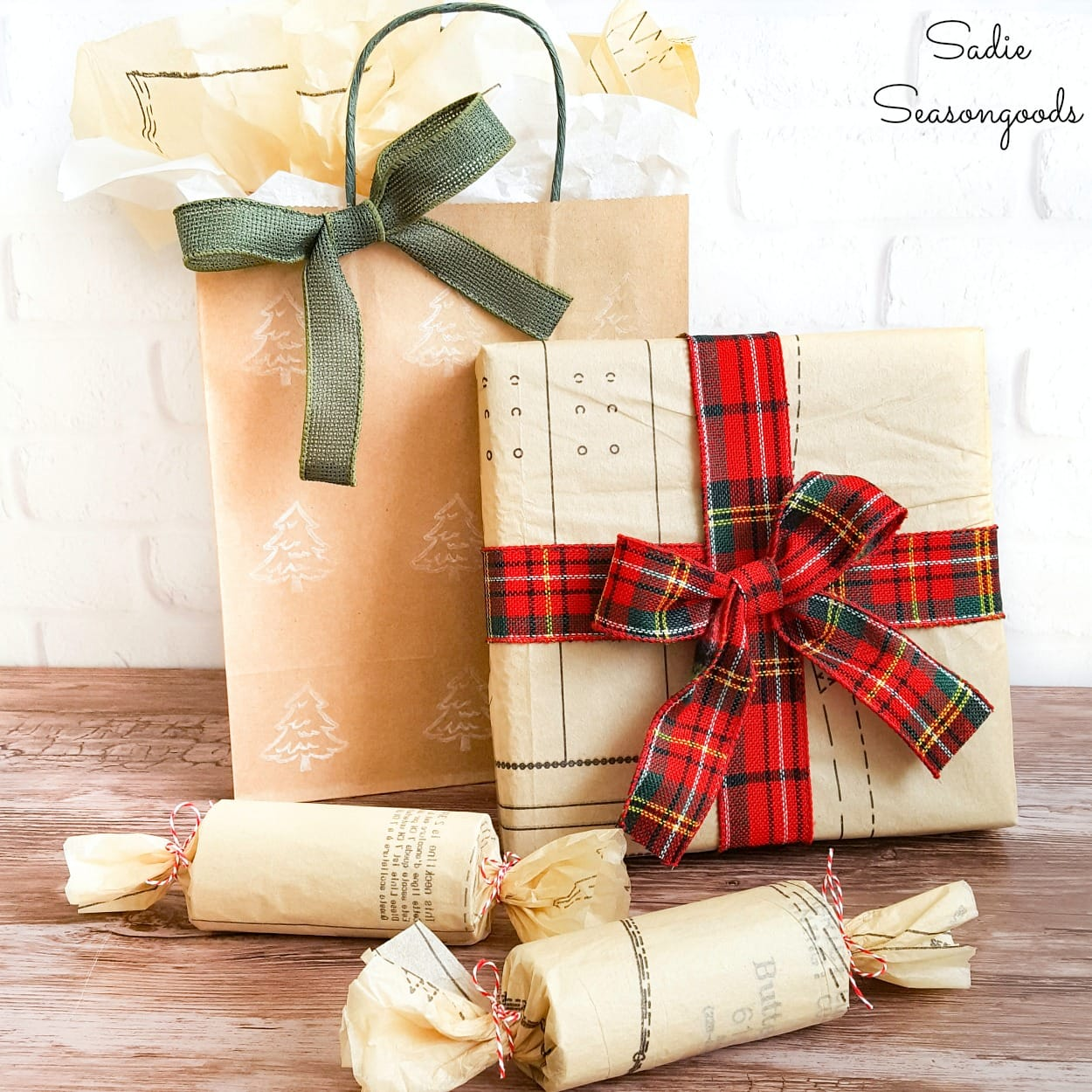 Sustainable Gift Wrapping with Vintage Sewing Patterns