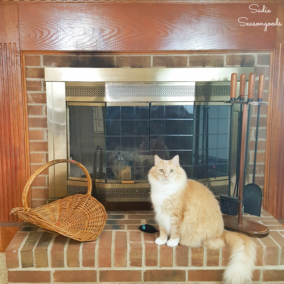 Fireplace basket to be given a cozy makeover