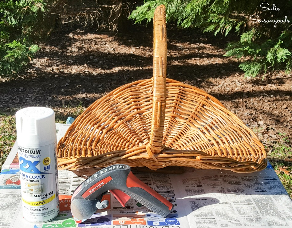 How to spray paint a basket