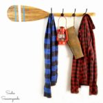 Rustic Coat Rack and Nautical Wall Decor with an Oar / Wooden Paddle