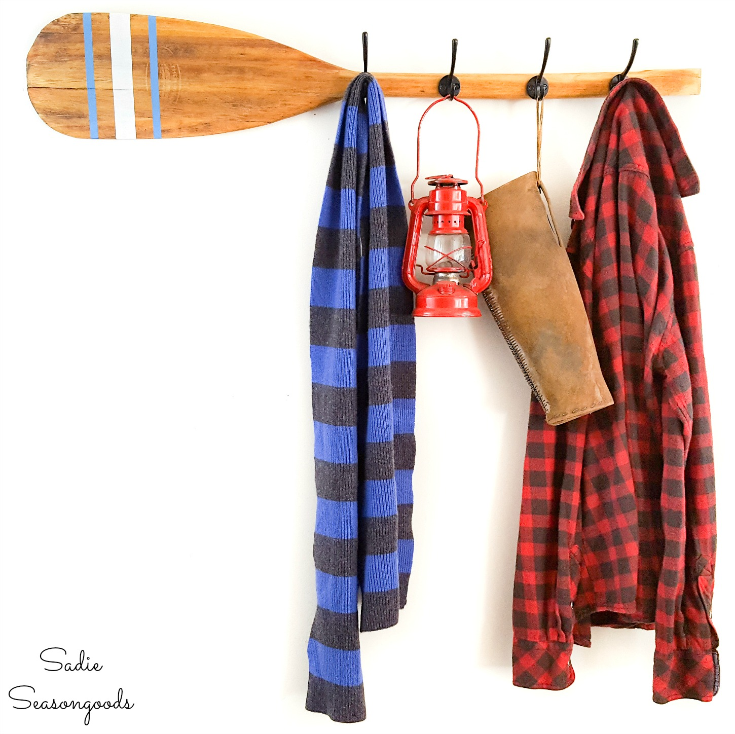 Upcycling a Boat Oar as a Nautical Coat Rack