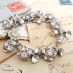 So Charming: Vintage Rhinestone Button Bracelet