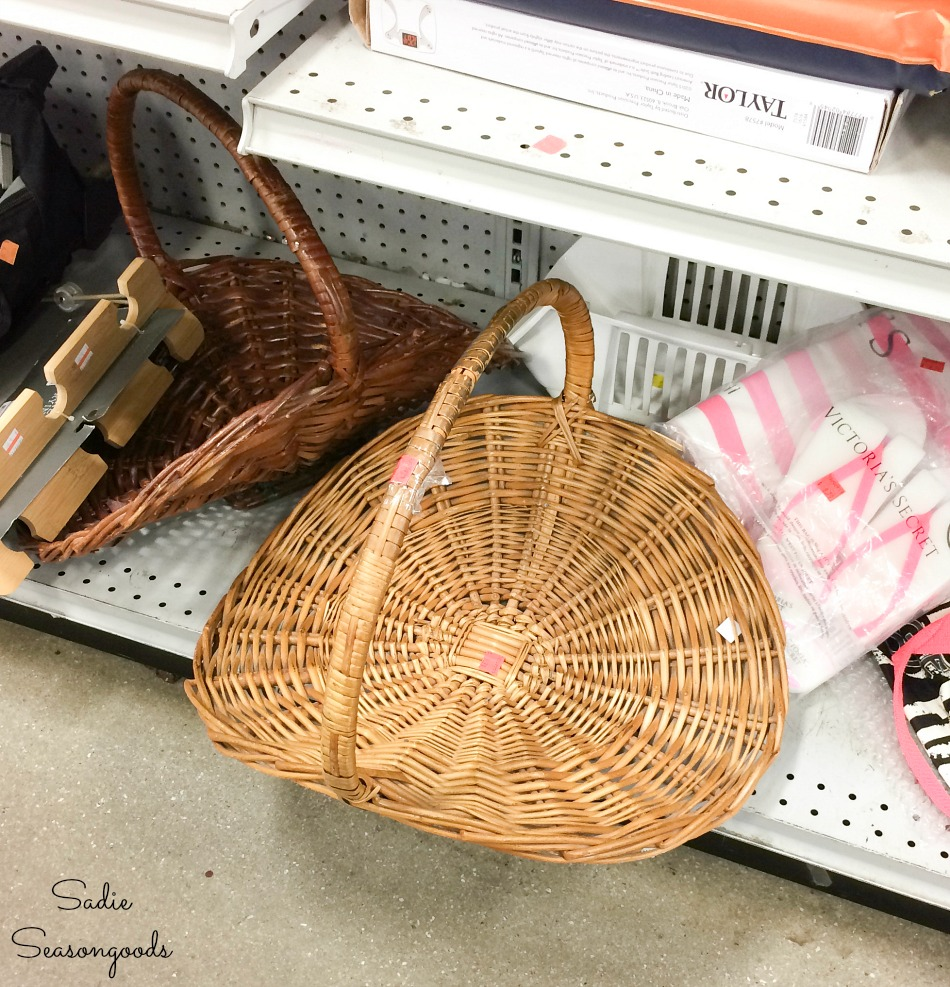 Wicker log basket for a fireplace at Goodwill