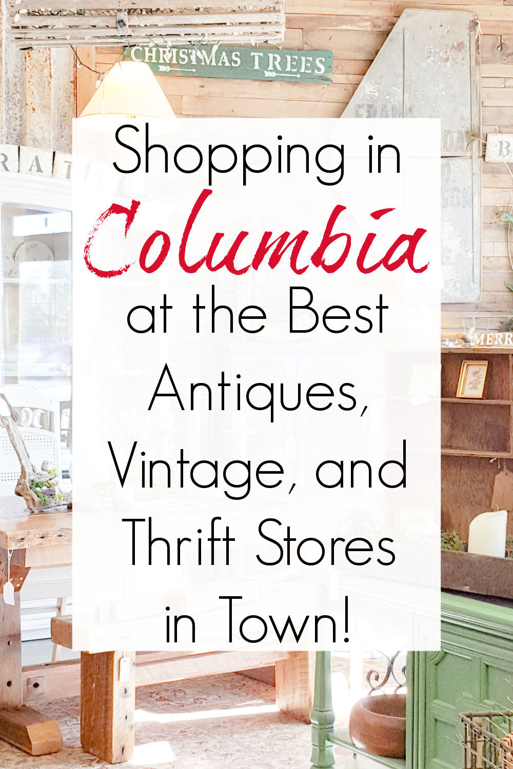 thrift stores and antique malls in columbia sc