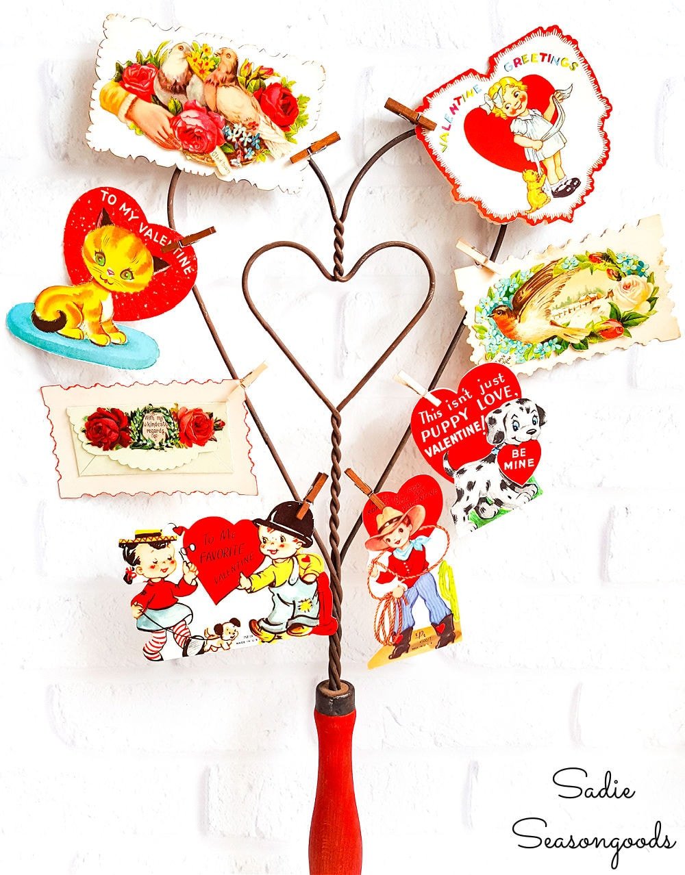 Vintage valentine decorations