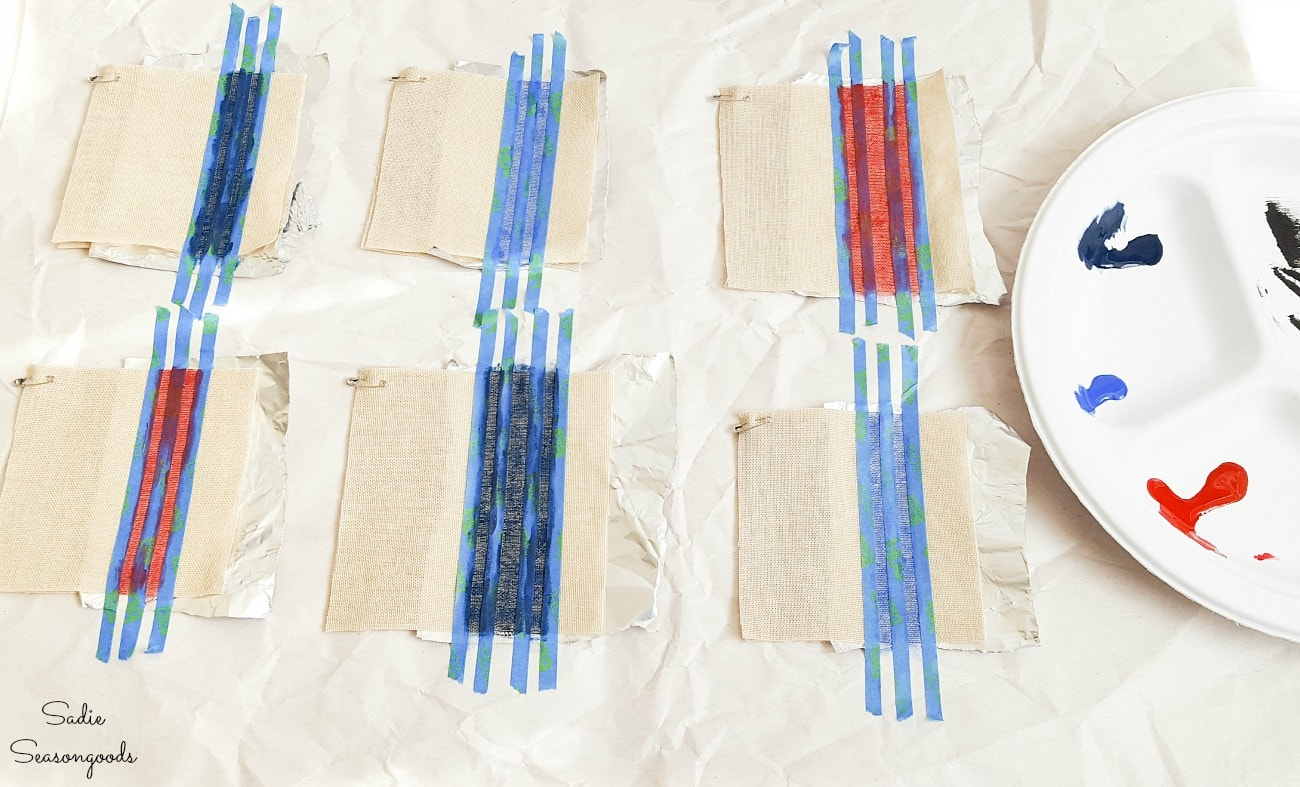 Grain sack stripes with fabric ink