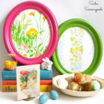 Antique Picture Frames as Easter Egg Decor