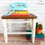 Restoring a Small Footstool with a Wooden Cutting Board