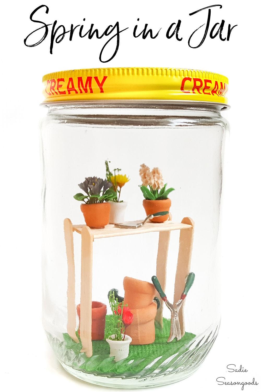 how to make a fairy garden in a jar