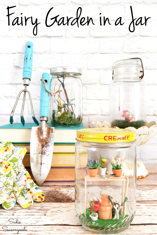 spring decorating ideas with vintage jars