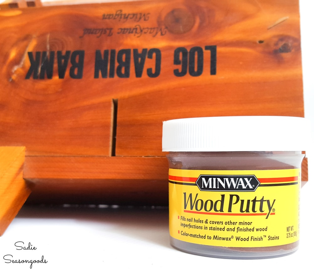 Wood putty to seal up a coin slot