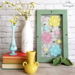 Cottage Style Decor for Spring with Embroidery on Screen Mesh