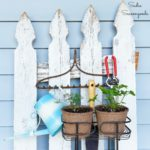 Upcycling a Standing Shower Caddy as a Vertical Plant Stand