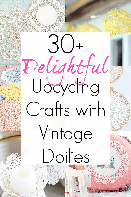 doily crafts for grandma's doilies