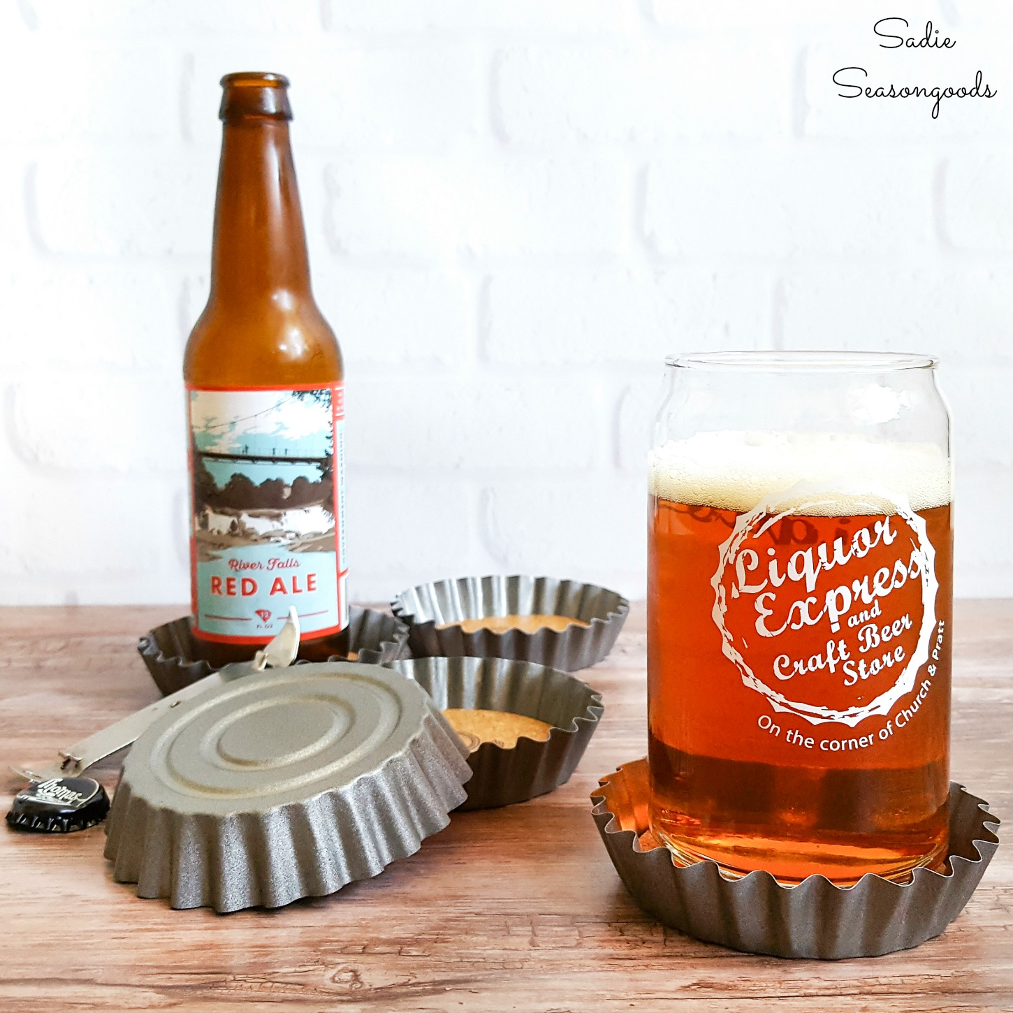 Beer Coasters from Tart Tins for a Father's Day Gift