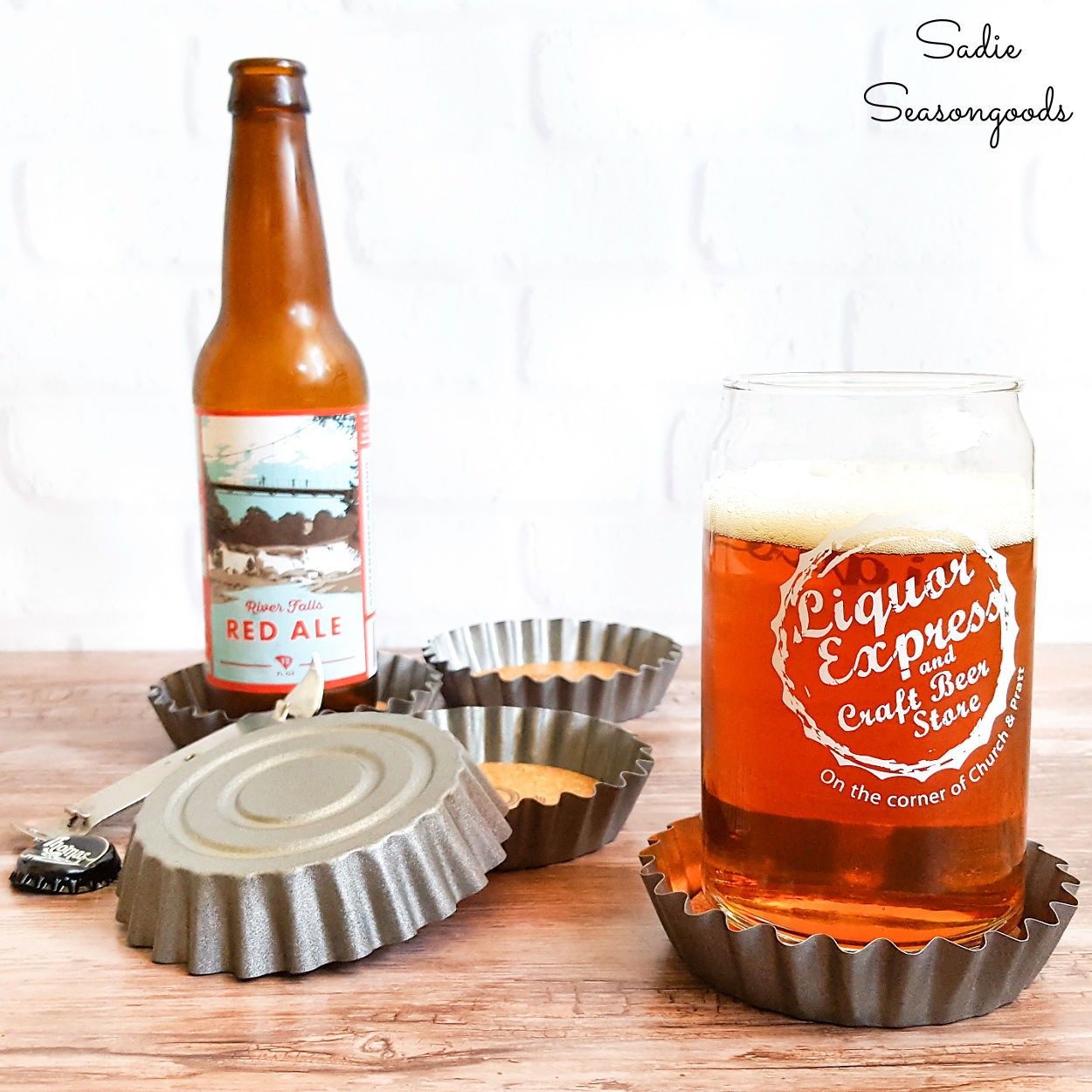 Bottle Cap Coasters from Tartlet Tins