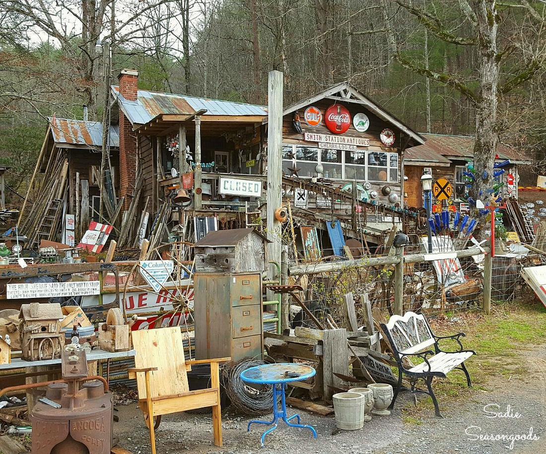 Smith Station Antiques in Cherry Log GA for things to do in Blue Ridge GA by Sadie Seasongoods